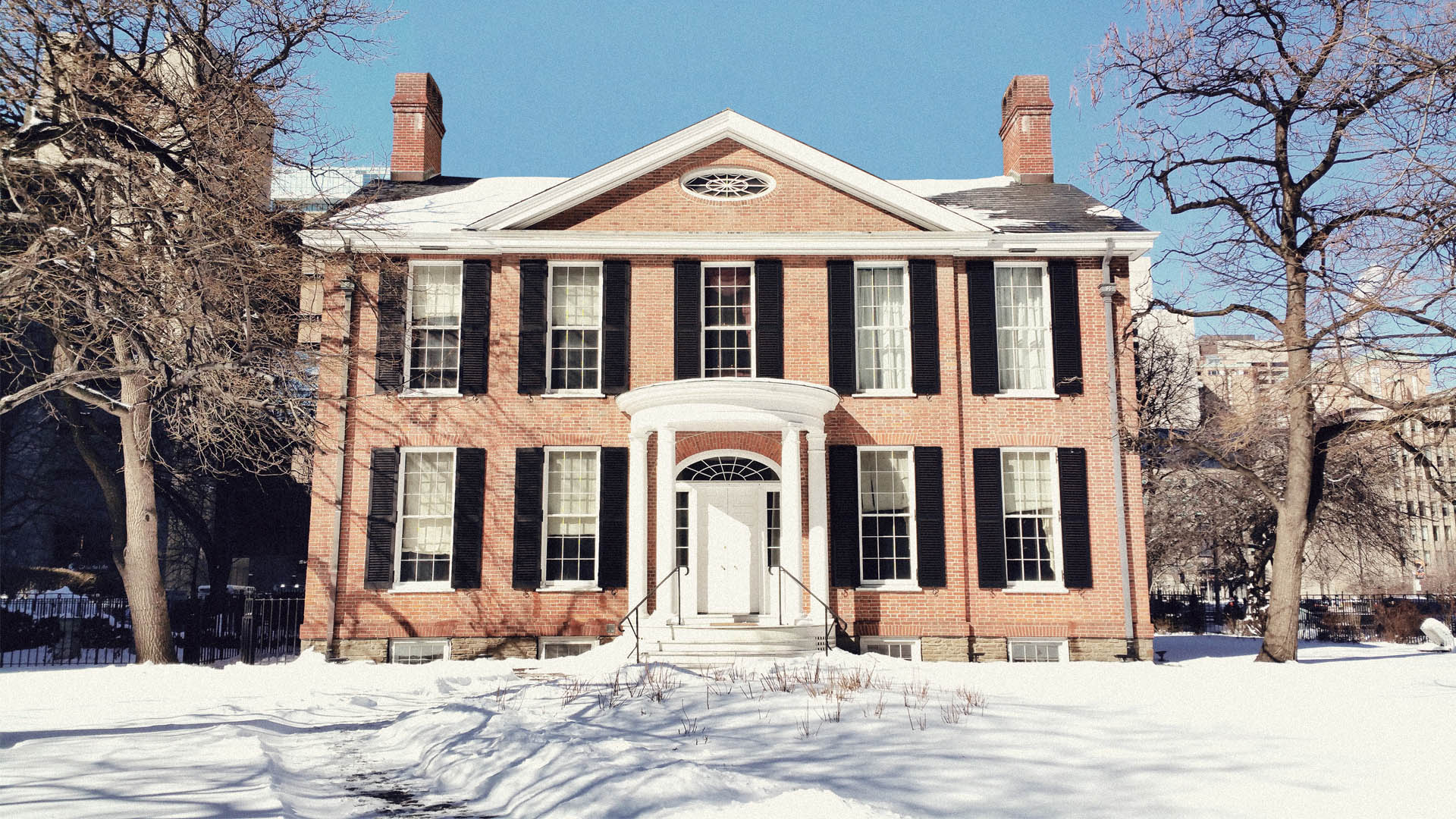 Campbell House in Snow 2016
